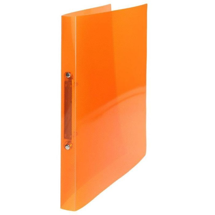 TipTop Office Ringmappe A4 2 Ring Orange transluzent