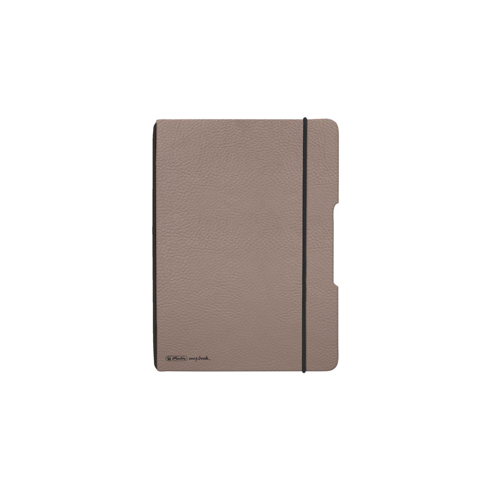 Herlitz Notizheft my.book flex A5 PU-Cover taupe mit 40 Blatt