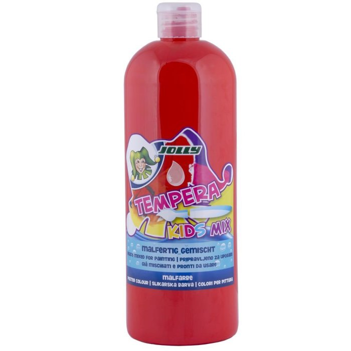 JOLLY Super Tempera Malfarben 1 Liter zinnober