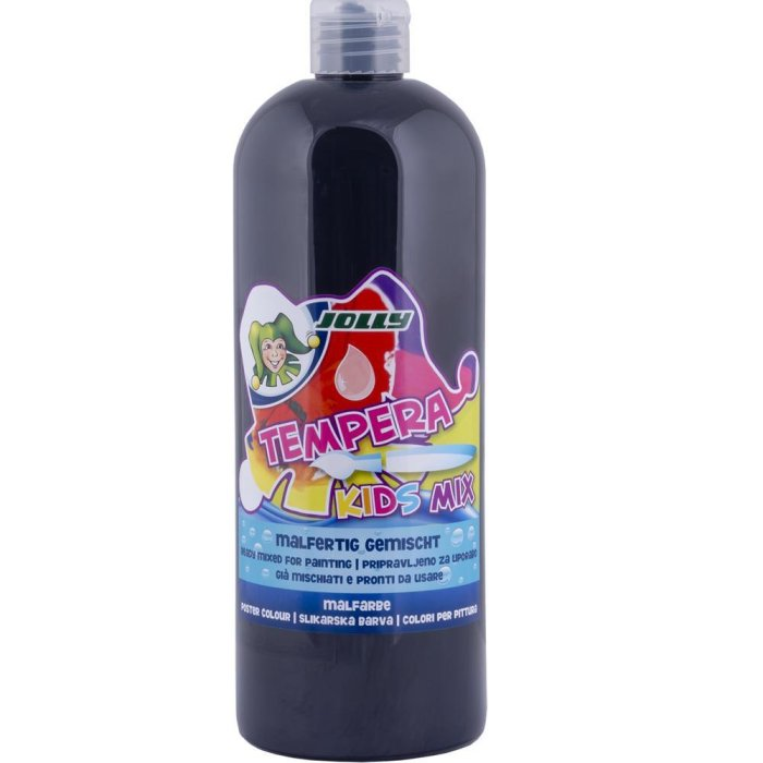 JOLLY Super Tempera Malfarben 1 Liter schwarz