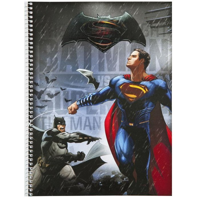 UNDERCOVER Collegeblock Batman vs Superman DIN A4 (BSFH0511)
