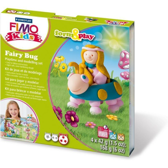 FIMO kids Modellier-Set Form & Play Fairy Bug, Level 3