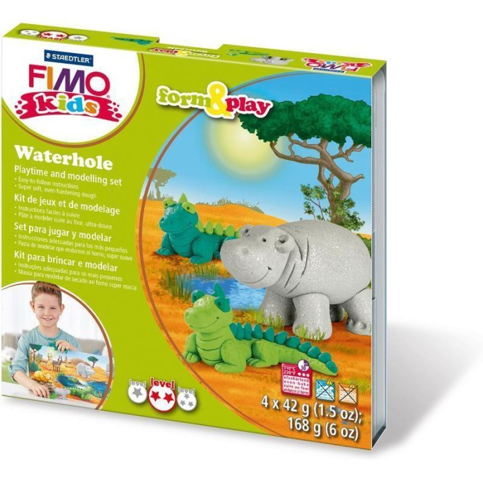 FIMO kids Modellier-Set Form & Play Waterhole, Level 3