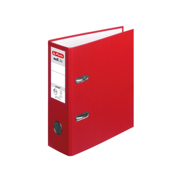 herlitz Ordner maX.file protect A5 80mm rot