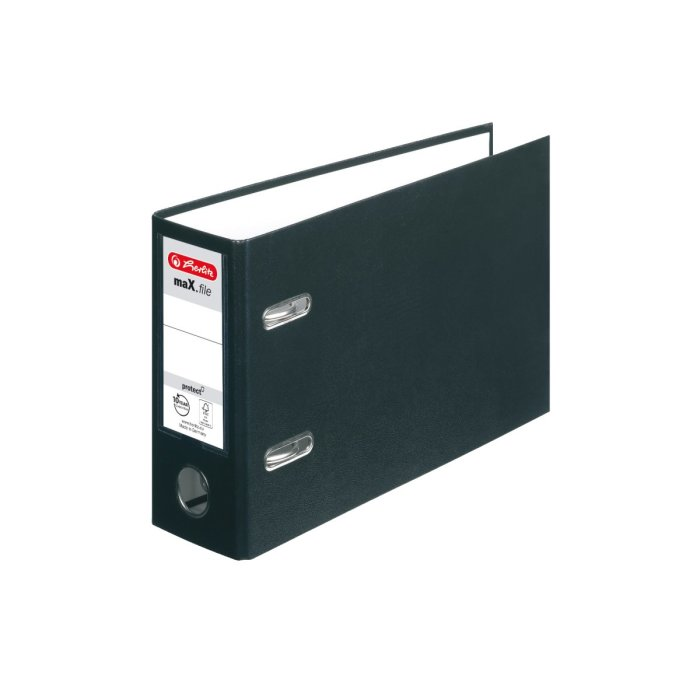 herlitz Ordner maX.file protect A5 quer 80mm schwarz