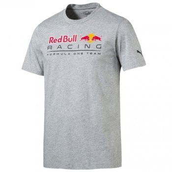 PUMA Red Bull Racing Logo Tee Light Grey Heather L
