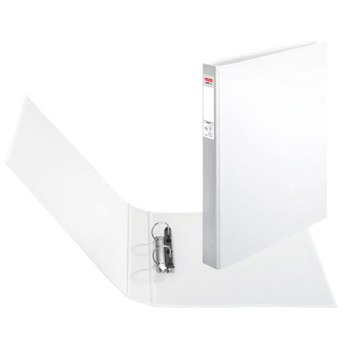 herlitz Ringbuch maX.file protect A4 2-Ring 40mm weiss