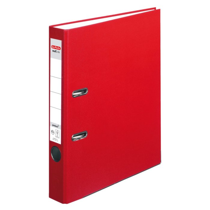 herlitz Ordner maX.file protect A4 50mm rot