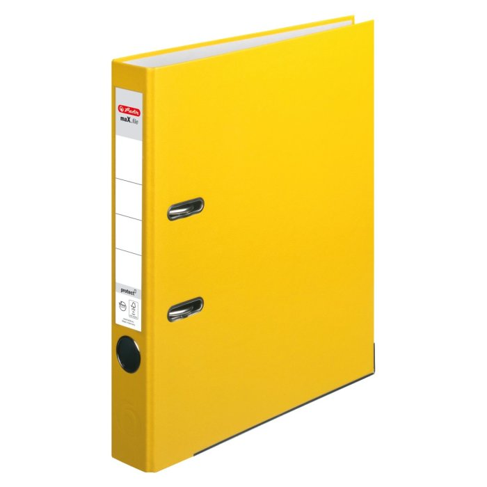 herlitz Ordner maX.file protect A4 50mm gelb