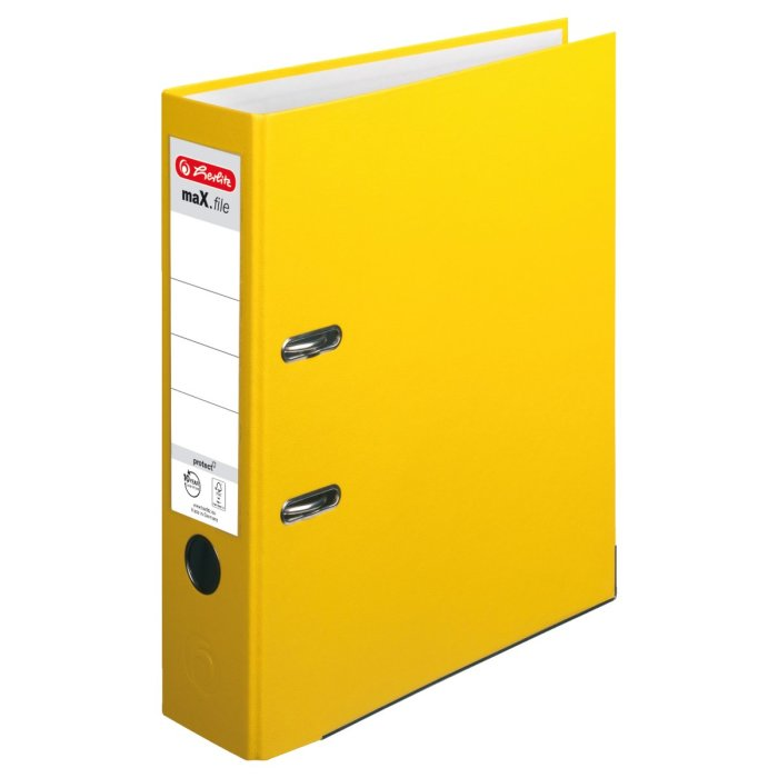 herlitz Ordner maX.file protect A4 80mm gelb