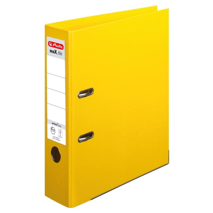 herlitz Ordner maX.file protect+ A4 80mm gelb