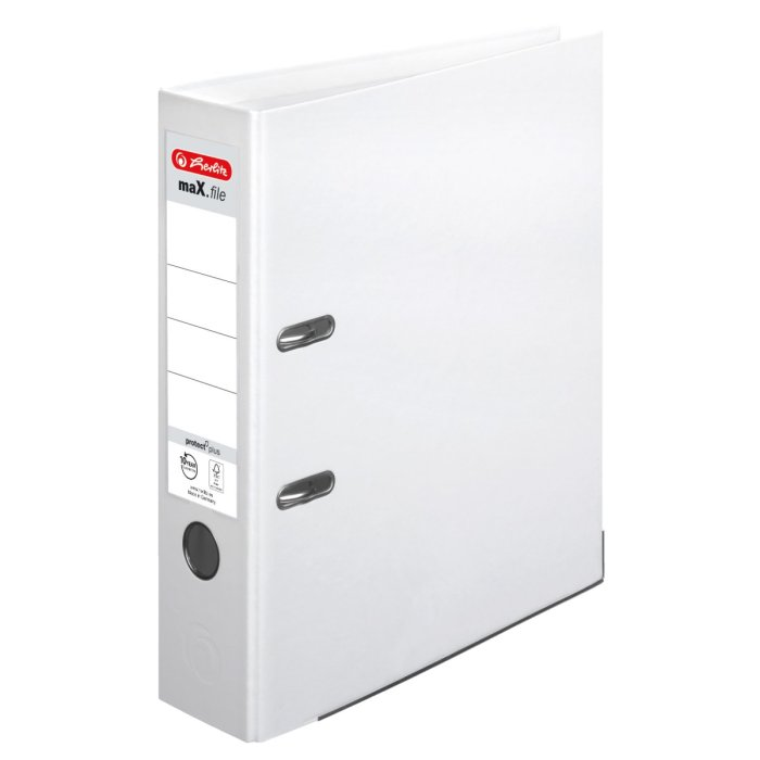 herlitz Ordner maX.file protect+ A4 80mm weiss