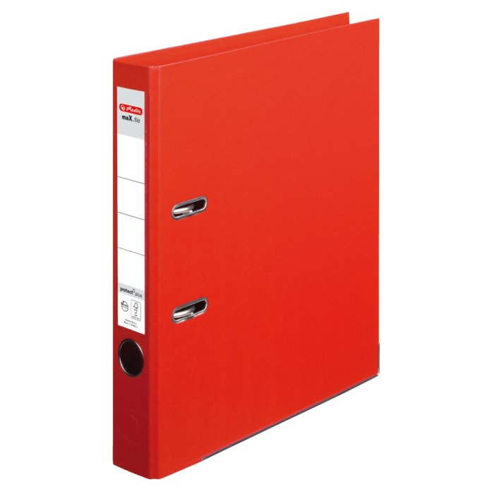 herlitz Ordner maX.file protect+ A4 50mm rot