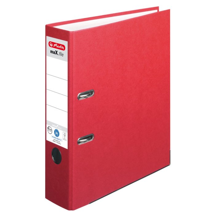 herlitz Ordner maX.file nature+ A4 80mm rot