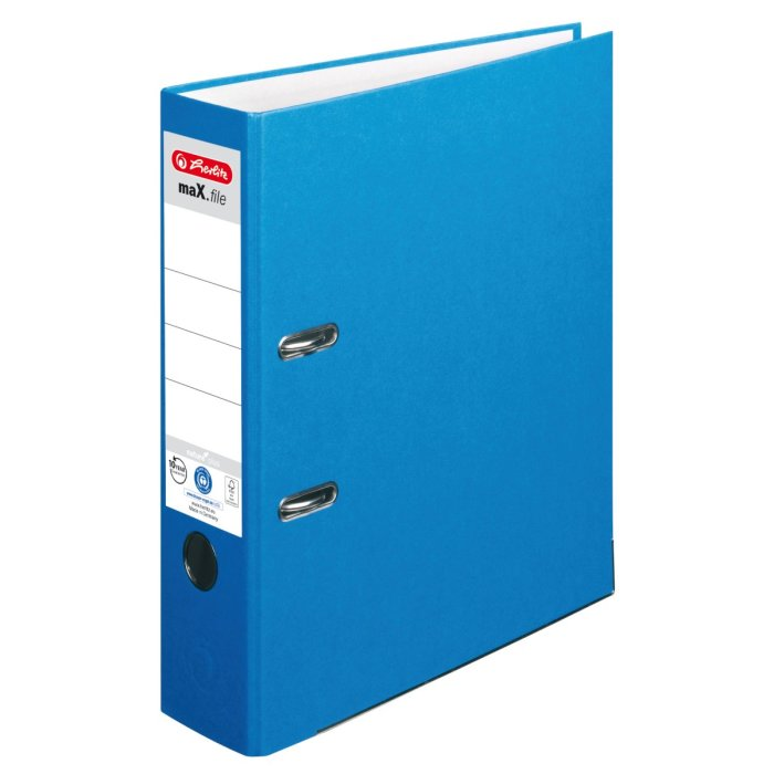 herlitz Ordner maX.file nature+ A4 80mm blau