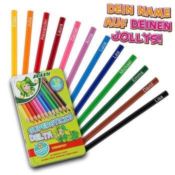 JOLLY Buntstifte Supersticks DELTA 12er Metalletui mit...