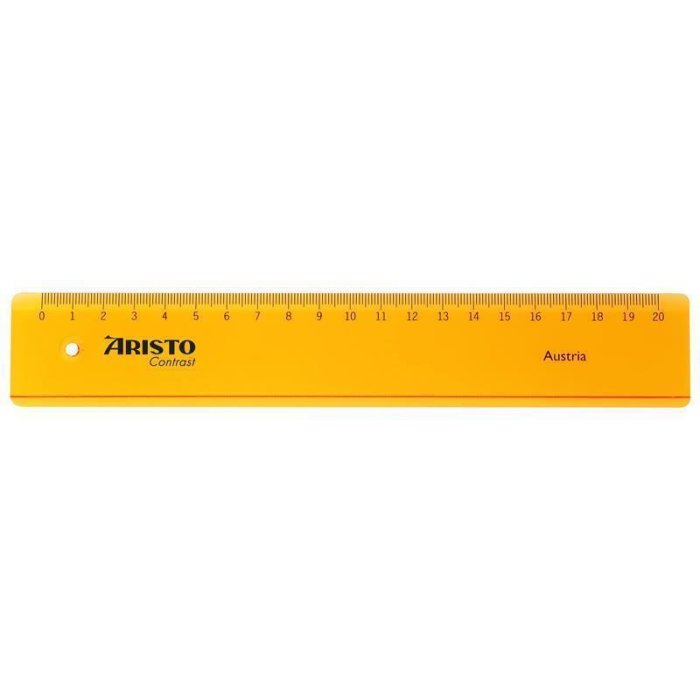 ARISTO GEO Contrast Lineal 20cm orange (AR22020)