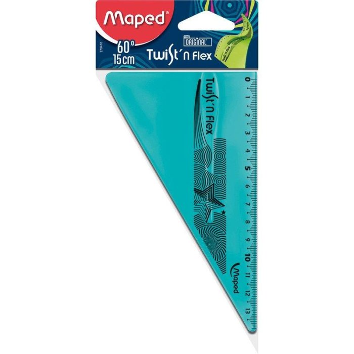 Maped flexibles Zeichendreieck 60° Twist´n Flex - blau