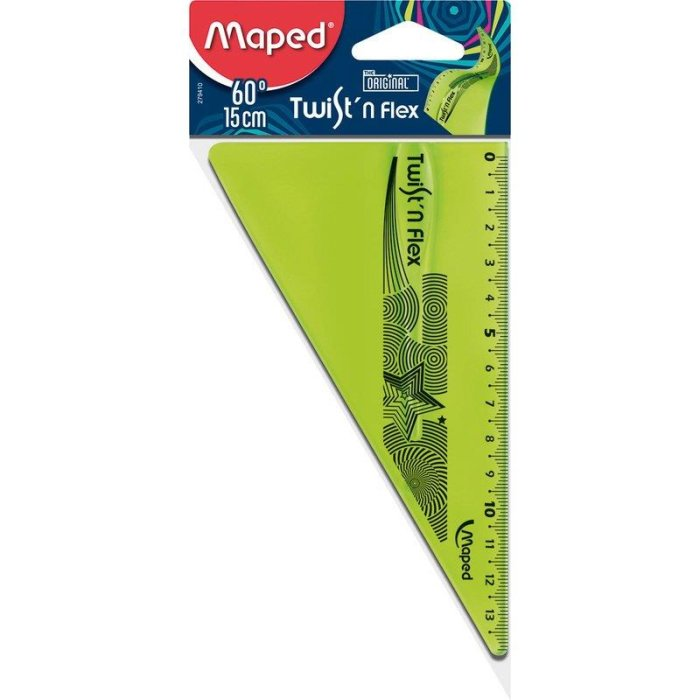 Maped flexibles Zeichendreieck 60° Twist´n Flex - grün