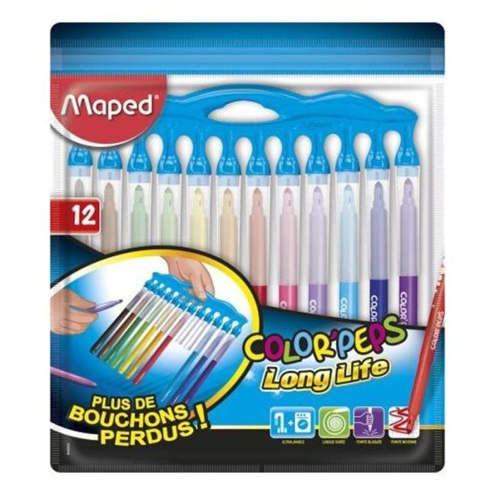 Maped Fasermaler COLORPEPS Long Life Innovation, 12er Set