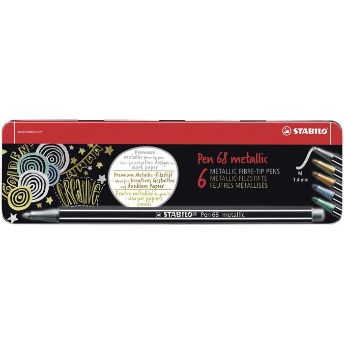 STABILO Pen 68 metallic 6er Metalletui