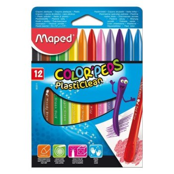 Maped Wachsmalststift COLORPEPS PlastiClean, 12er Etui