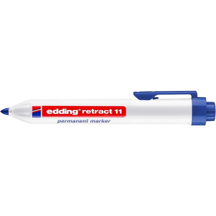 edding retract 11 Permanentmarker blau