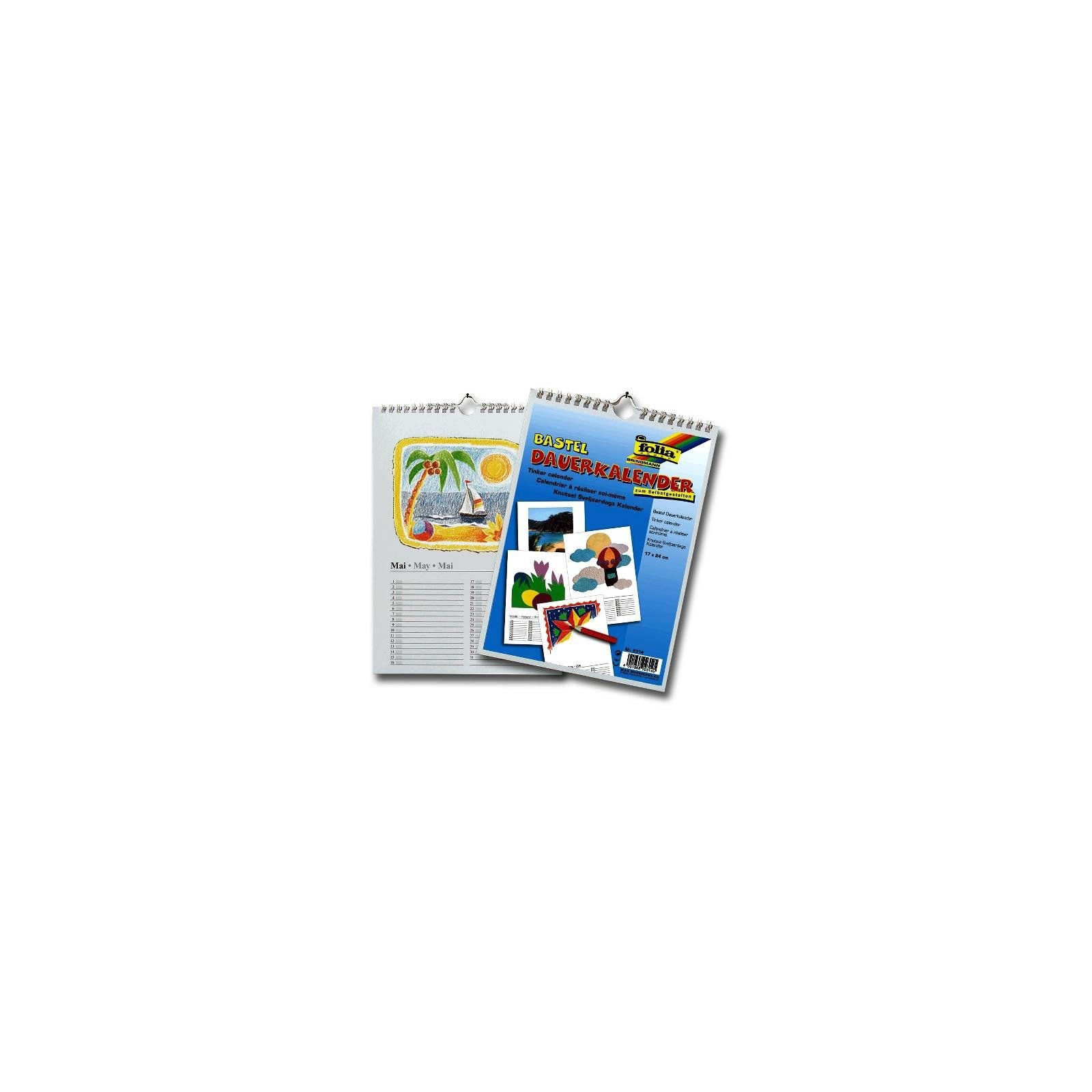 folia Kalender selbst gestalten Basteln Spiralbindung DIN A4 weiß Fotokalender