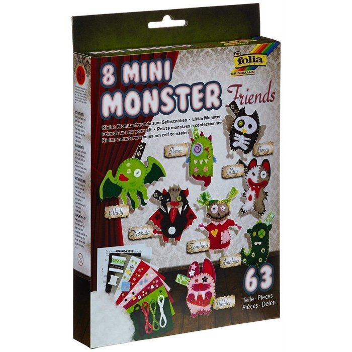 folia Häkelset Mini Monster Friends