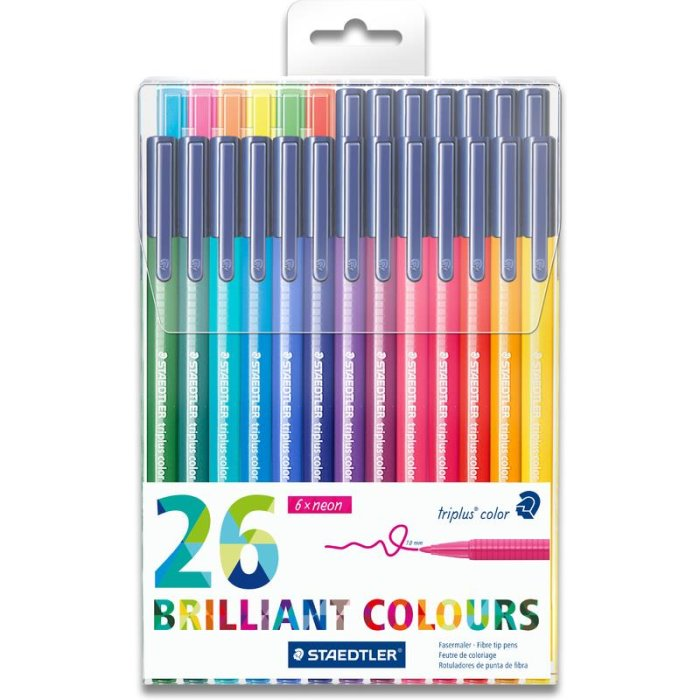 STAEDTLER 323 triplus color Fasermaler Brilliant Colours...
