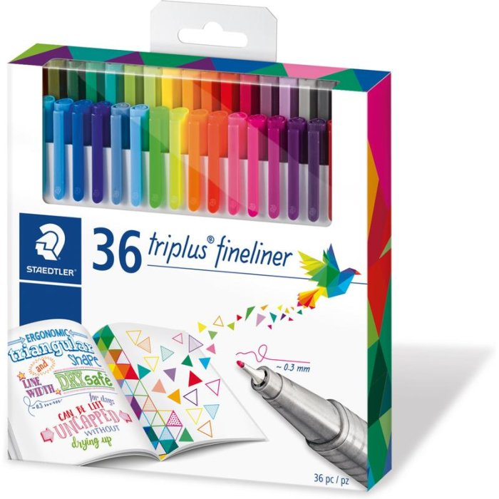 STAEDTLER 334 triplus Fineliner Brilliant Colours 36er Etui