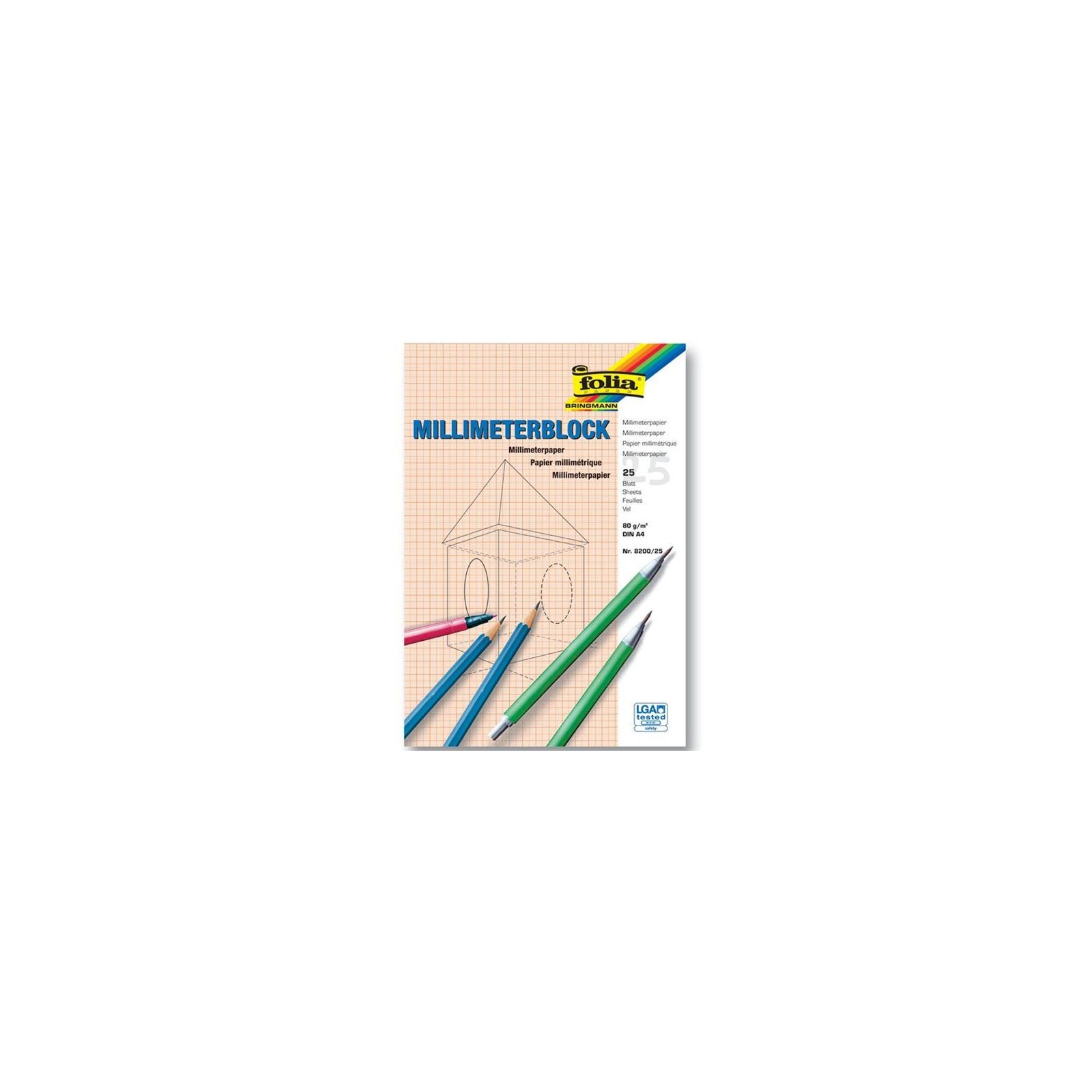 1 Millimeter Blöcke Hefte Blöcke Block Din A4 20 Blatt Millimeterpapier holzfrei
