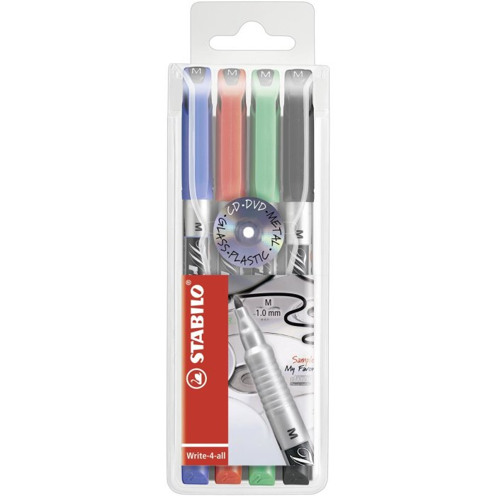 STABILO Write-4-all Medium 4er Etui
