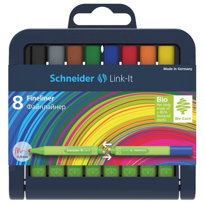 Schneider Fineliner Link-It 0,4 mm 8er Box