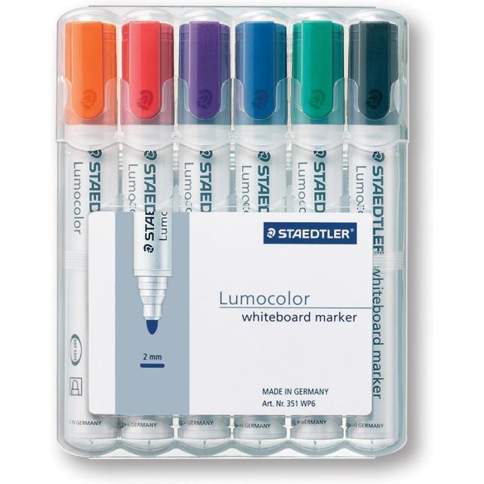 STAEDTLER Lumocolor 351 Whiteboardmarker 6er Box