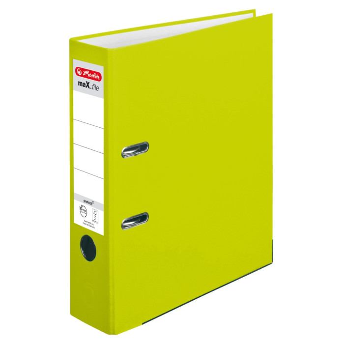 herlitz Ordner maX.file protect A4 80mm neongrün