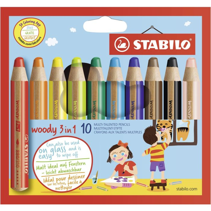 STABILO woody 3 in 1, 10er Etui