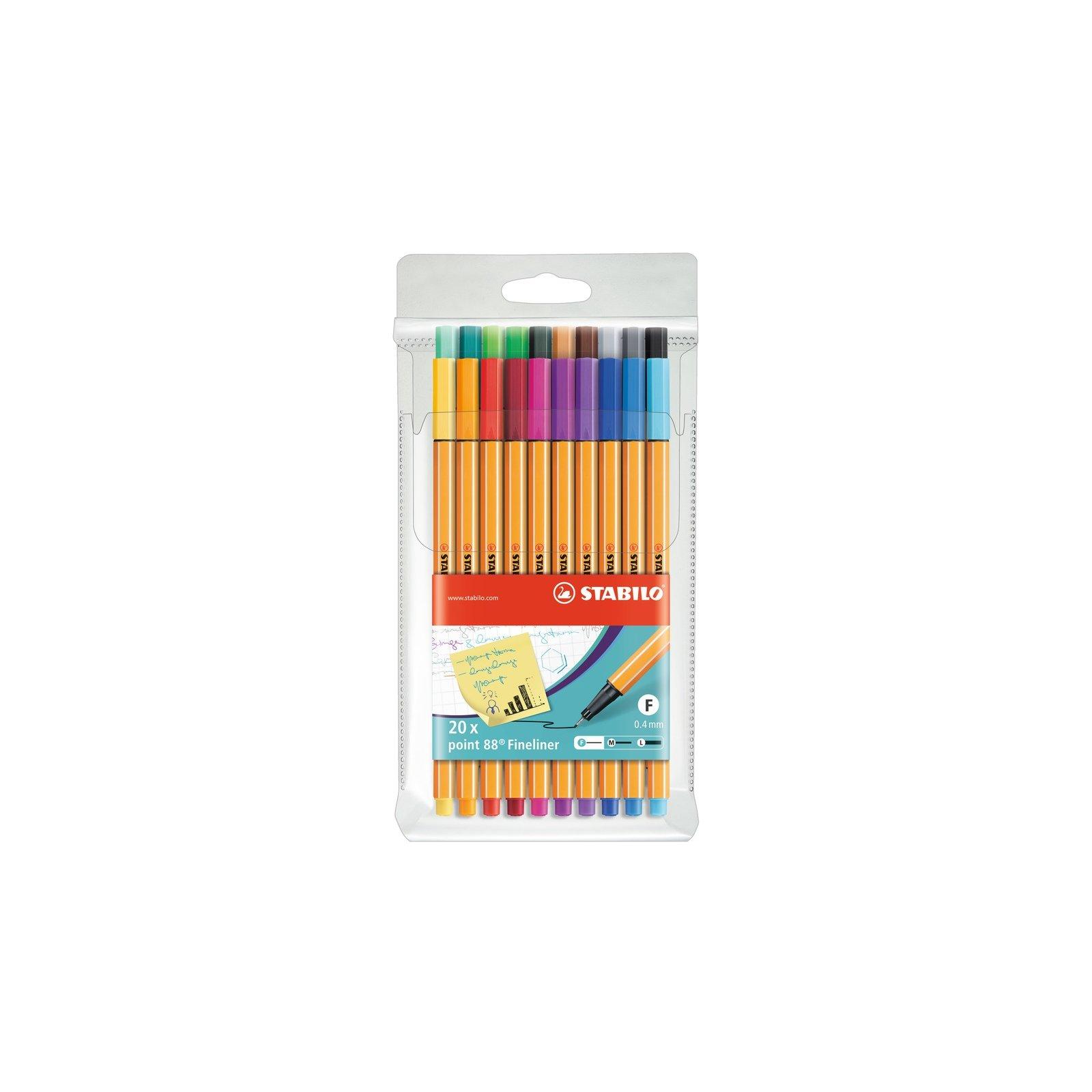 point 88-20er Big point Box STABILO Fineliner mit 20 verschiedenen Farben