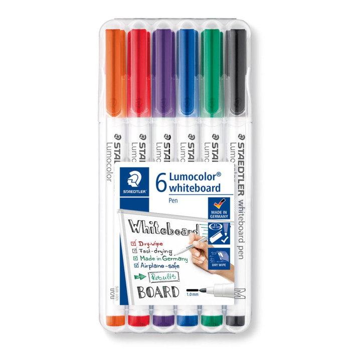 STAEDTLER Lumocolor 301 Whiteboard-Marker 6er Box