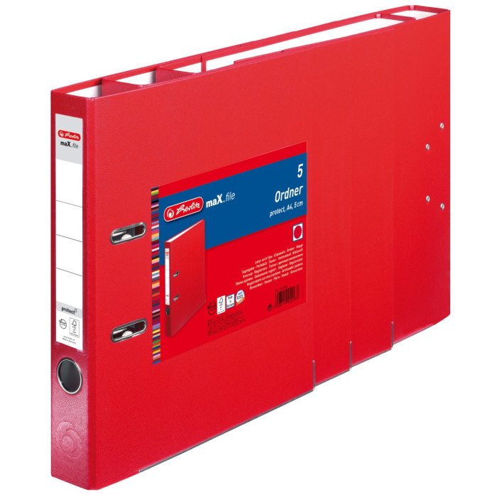 herlitz Ordner maX.file protect A4 50mm rot 5er Pack