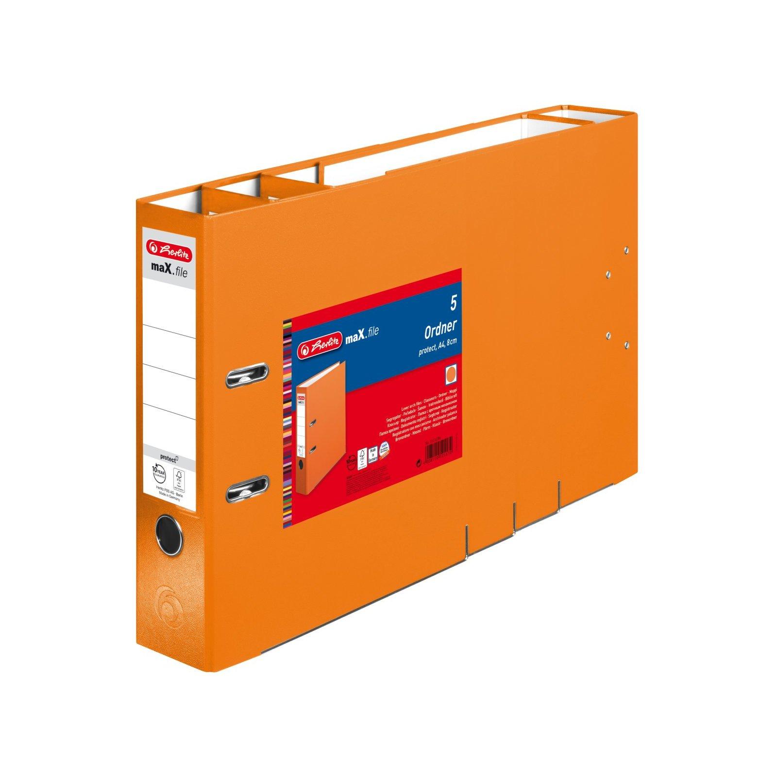 80 mm herlitz Ordner maX.file protect A4 orange