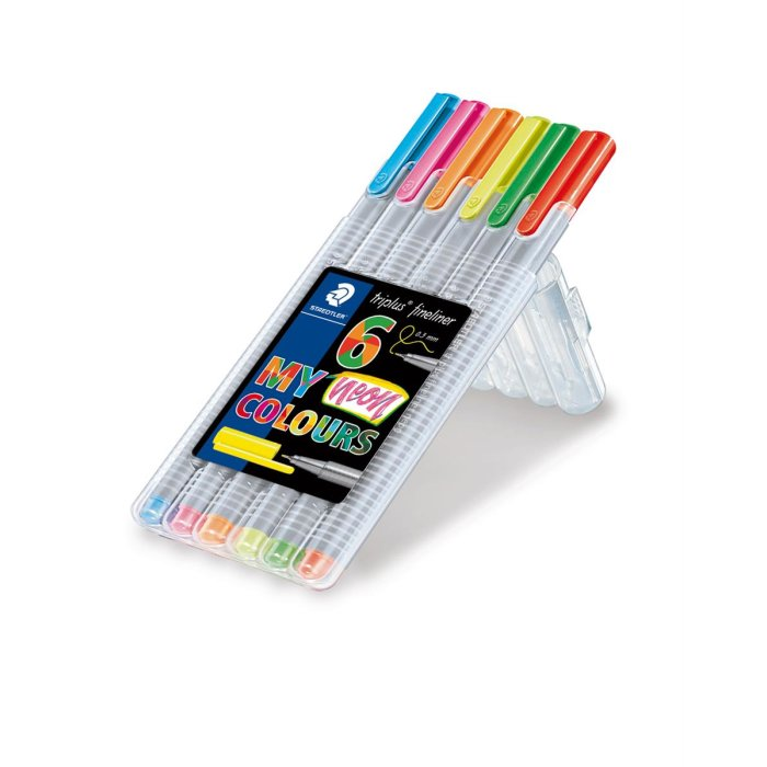 STAEDTLER 334 triplus Fineliner 6er Box My neon colours