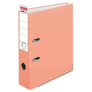 herlitz Ordner maX.file protect A4 80mm lachs