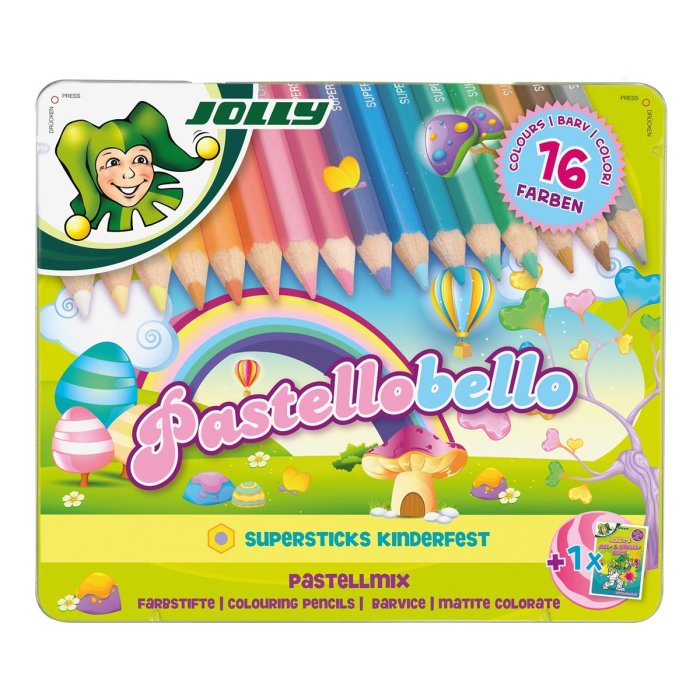 JOLLY Buntstifte Supersticks PASTELLOBELLO Pastell...