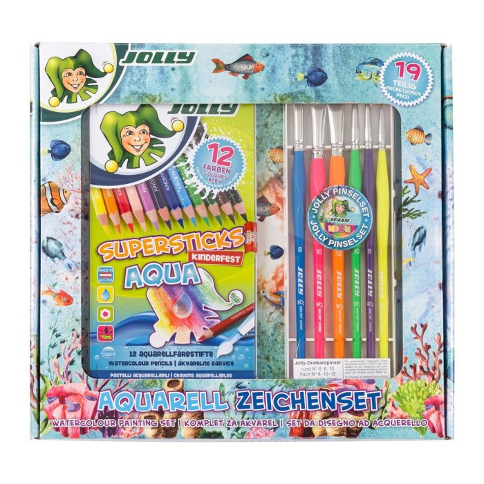JOLLY Supersticks AQUA -  Aquarellset, 19teilig