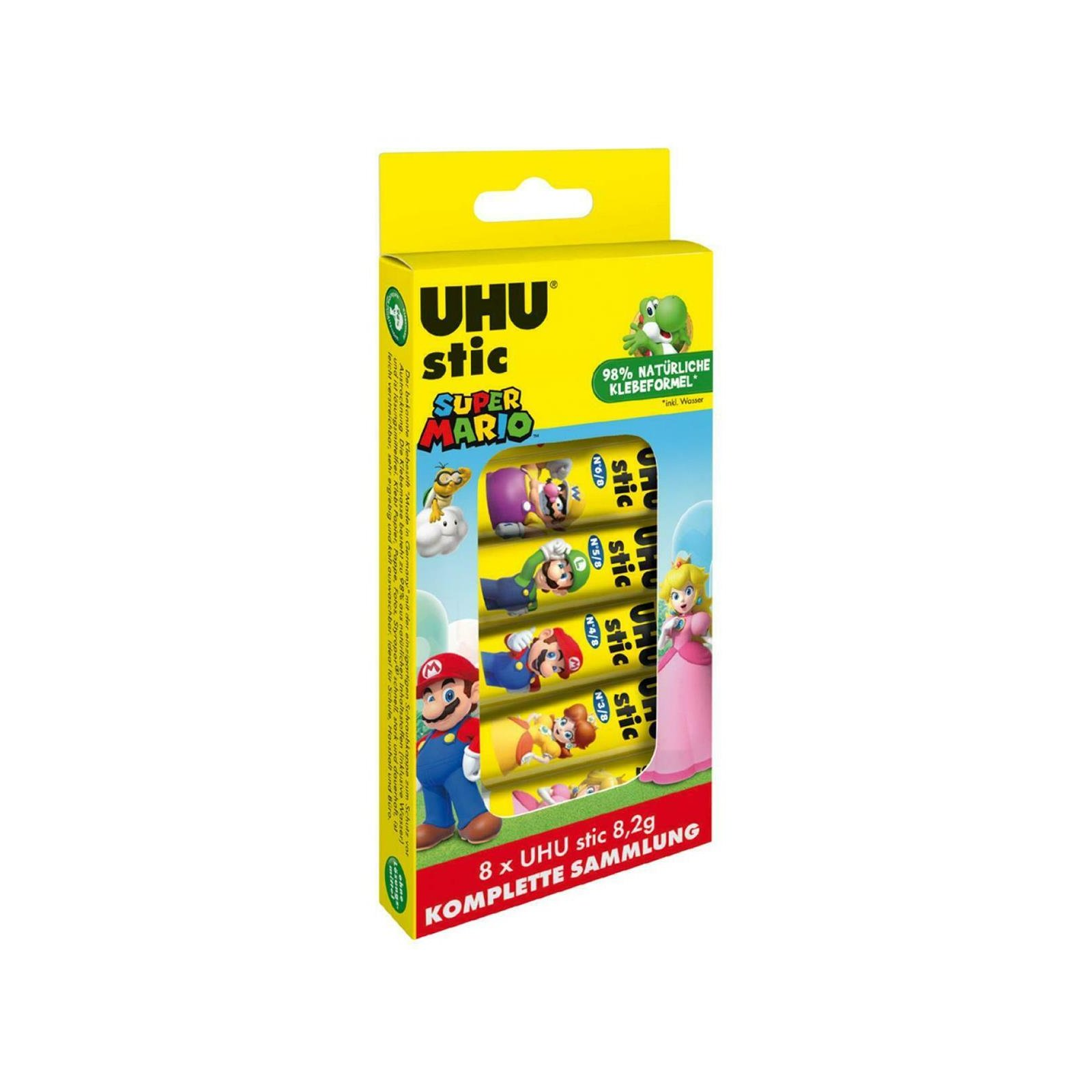 UHU Klebestift stic Collection Box, 8 x 8,2 g SUPER MARIO