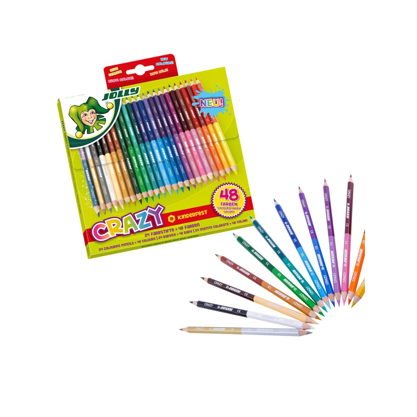 JOLLY Buntstifte CRAZY 24er Set = 48 Farben