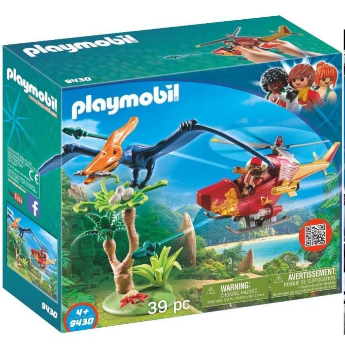 PLAYMOBIL Dinos Helikopter mit Flugsaurier 9430
