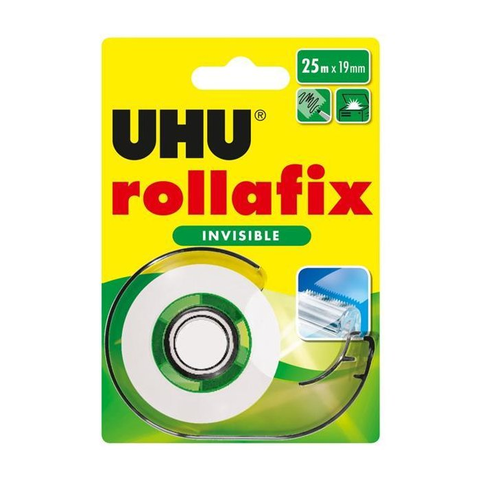 UHU Klebefilm rollafix invisible, inkl. Handabroller 19mm...