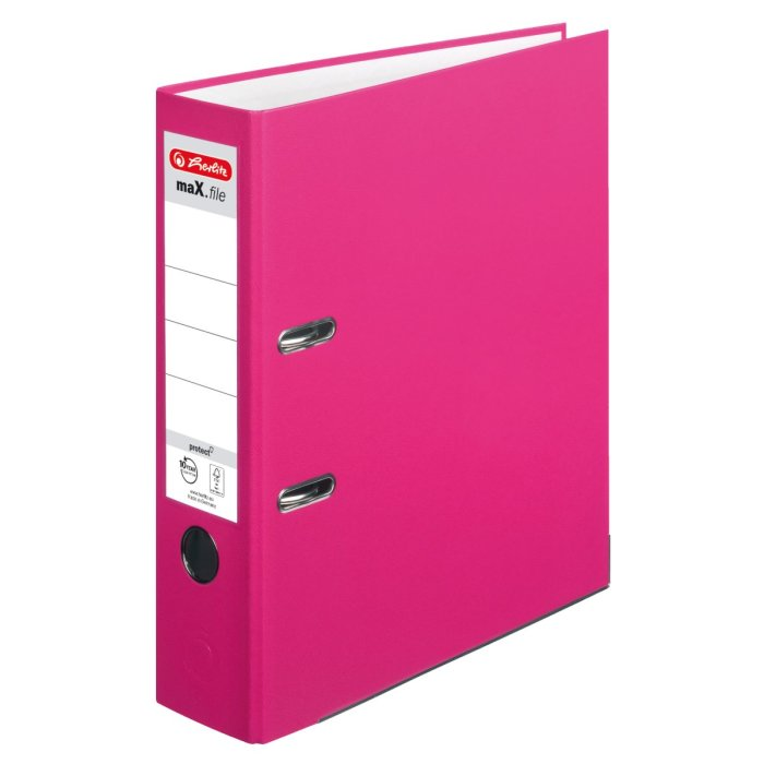 herlitz Ordner maX.file protect A4 80mm pink
